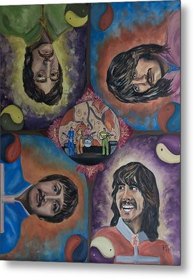 Beatles' Universe Metal Print