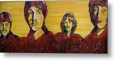 Beatles Widescreen Metal Print by Linda Kassabian