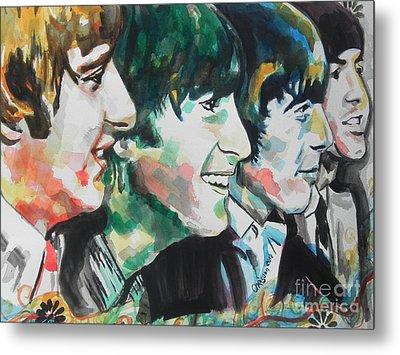 The Beatles 02 Metal Print by Chrisann Ellis