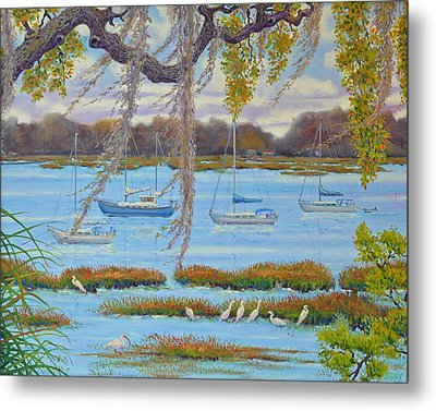 Beaufort Anchorage Metal Print by Dwain Ray
