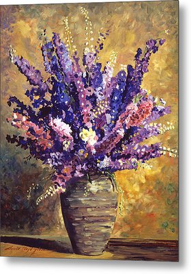 Beaujolais Bouquet Metal Print by David Lloyd Glover