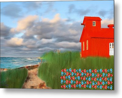 Beautification Of A Lighthouse Metal Print by Bruce Nutting