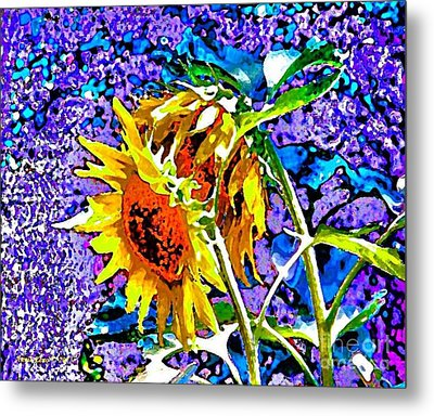 Beautiful And Bright Sunflowers Metal Print