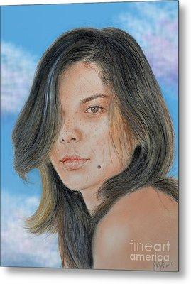 Beautiful And Sexy Actress Jeananne Goossen IIi Altered Version Metal Print