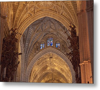 Beautiful Arches Of Seville Cathedral Metal Print by Viacheslav Savitskiy