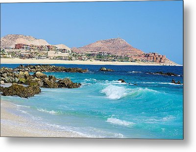 Beautiful Beach On The Sea Of Cortez Metal Print by John  Greaves