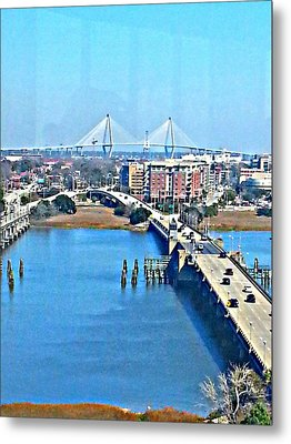 Charleston S C City View Metal Print by Joetta Beauford