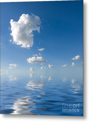 Beautiful Clouds And Sea Metal Print by Boon Mee