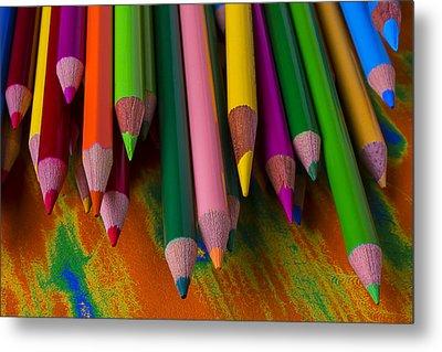 Beautiful Colored Pencils Metal Print