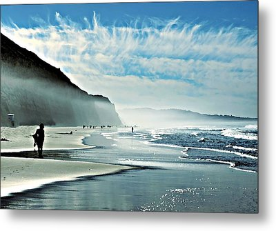 Another Beautiful Day At The Beach Metal Print by Sharon Soberon
