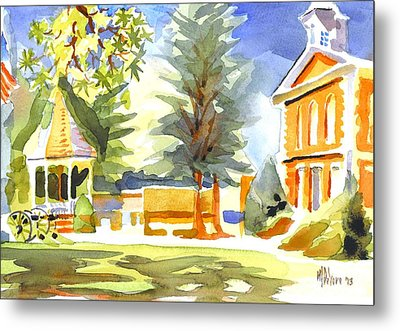 Beautiful Day On The Courthouse Square Metal Print by Kip DeVore