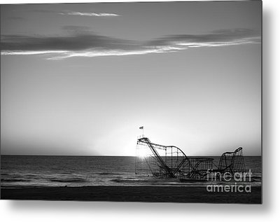 Beautiful Disaster Bw Metal Print by Michael Ver Sprill