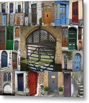 Beautiful Doors In London France And Belgium Metal Print by Cathy Jacobs