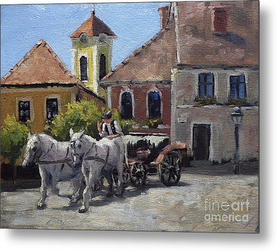 Beautiful European Town Szentendre Metal Print