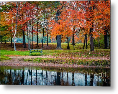 Beautiful Fall Foliage In New Hampshire Metal Print