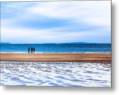 Beautiful Irish Beach On A Winter Day Metal Print by Mark E Tisdale