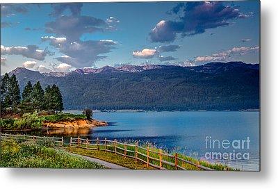 Beautiful Lake View Metal Print by Robert Bales