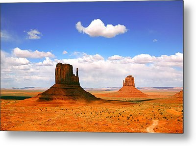 Beautiful Landscape Of  Monument Valley Arizona Metal Print by Katrina Brown