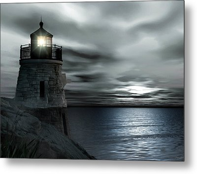Beautiful Light In The Night Metal Print by Lourry Legarde