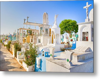 Beautiful Mexican Cemetery In Merida Metal Print by Mark E Tisdale