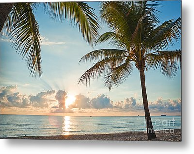 Beautiful Morning In Ft. Lauderdale Florida Metal Print by Sharon Dominick