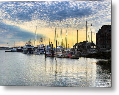 Beautiful Morning On Boston Waterfront Metal Print by Mark E Tisdale