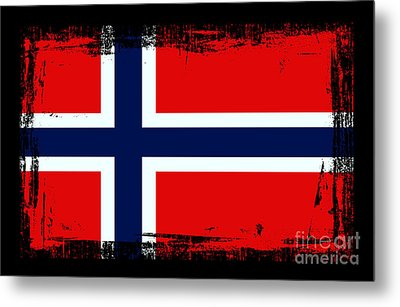 Beautiful Norway Flag Metal Print by Pamela Johnson