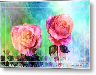 Beautiful Pink Roses Metal Print