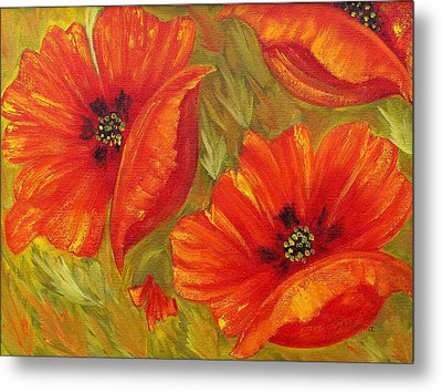 Beautiful Poppies Metal Print