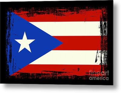 Beautiful Puerto Rico Flag Metal Print