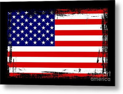 Beautiful United States Flag Metal Print by Pamela Johnson
