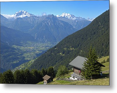 Beautiful View From Riederalp - Swiss Alps Metal Print by Matthias Hauser