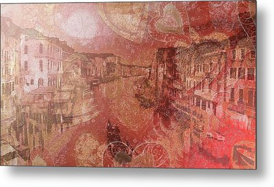 Metal Print featuring the painting Beautiful View Of Italian Silk by Catherine Lott