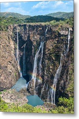 Beautiful Waterfalls In India Metal Print