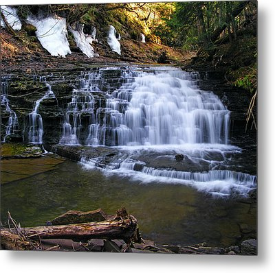 Beautiful Waterfalls Metal Print by Sheila Savage