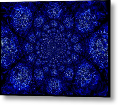 Beautifully Blue Metal Print by A Dx