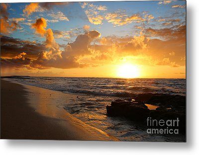 Beauty And The Beach Metal Print by Deena Otterstetter