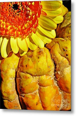 Beauty And The Squash Metal Print by Sarah Loft