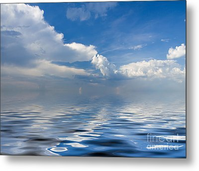 beauty Clouds over Sea Metal Print by Boon Mee