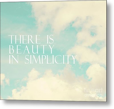 Metal Print featuring the photograph Beauty In Simplicity by Sylvia Cook