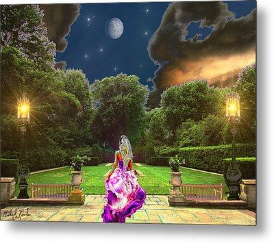 Beauty In The Garden Metal Print by Michael Rucker