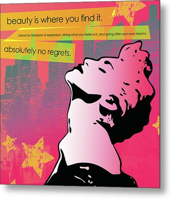 Beauty Is Where You Find It Metal Print