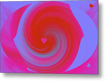 Metal Print featuring the digital art Beauty Marks by Catherine Lott
