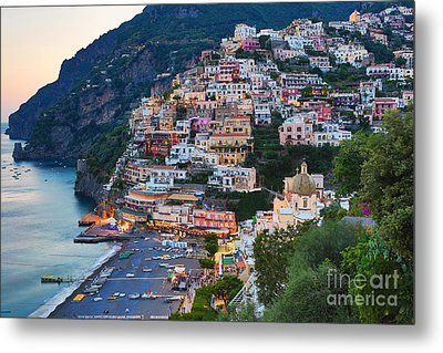 Beauty Of The Amalfi Coast  Metal Print by Leslie Leda