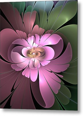 Metal Print featuring the digital art Beauty Queen Of Flowers by Svetlana Nikolova