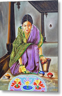 Beauty Revealed- A 5000 Year Old Artistic Heritage Metal Print by Ragunath Venkatraman