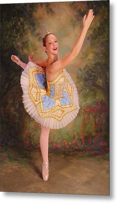 Beauty The Ballerina Metal Print by ARTography by Pamela Smale Williams