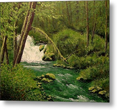 Metal Print featuring the mixed media Beaver Creek Falls by Kenny Henson