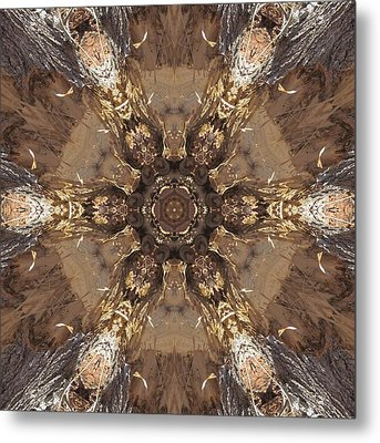 Metal Print featuring the digital art Beaver's Work Two by Trina Stephenson