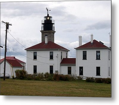 Beavertail Lighthouse Metal Print by Catherine Gagne